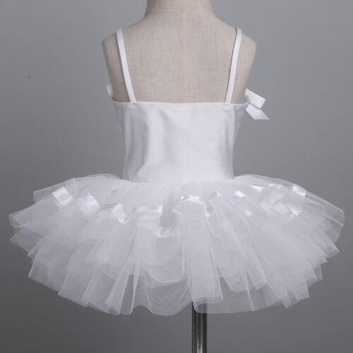 Kids Girls Camisole Ballet Tutu Dress Gymnastics Leotard Dancewear Costumes
