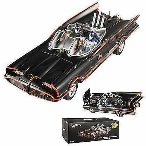 1 18 Hot Wheels Elite bcj95 TV 1966 Batmobile avec Batman & Robin personnages