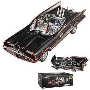 1:18 Hot Wheels Elite Bcj95 Tv 1966 Batmobile Avec Batman & Robin