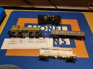 HO PARTS LOCOMOTIVE & 3 CARS MONON N&W ONTARIO DIESEL ENGINE LOT 🚂🇺🇸 L14
