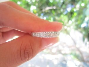 .37 Carat Diamond White Gold Half Eternity Ring 14k codeHE27 sepvergara