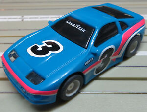 For-H0-Slotcar-Racing-Model-Railway-Nissan-300-Zx-with-Tyco-Engine-And