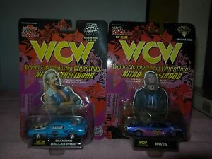 wcw-racing-champions-streetrods-raven-and-diamond-dallas-page-cars