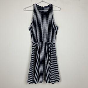 Gap-Womens-Navy-Grey-Sleeveless-Dress-with-Back-Zipper-Size-XS