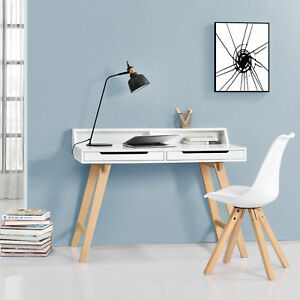 en-casa-retro-bureau-blanc-hetre-Table-d-039-ORDINATEUR-BUREAU-TABLE-CONSOLE
