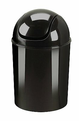 Umbra Black Mini Trash Can Small Paper Waste Basket Recycled Polypropylene