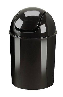 Umbra Black Mini Trash Can Small Paper Waste Basket Recycled Polypropylene