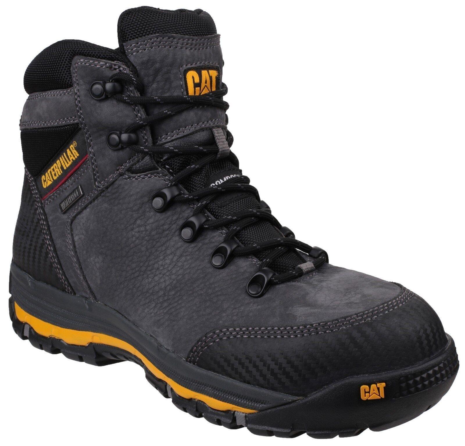 CAT Caterpillar Munising Waterproof Safety Industrial Work Mens Boots UK6-12