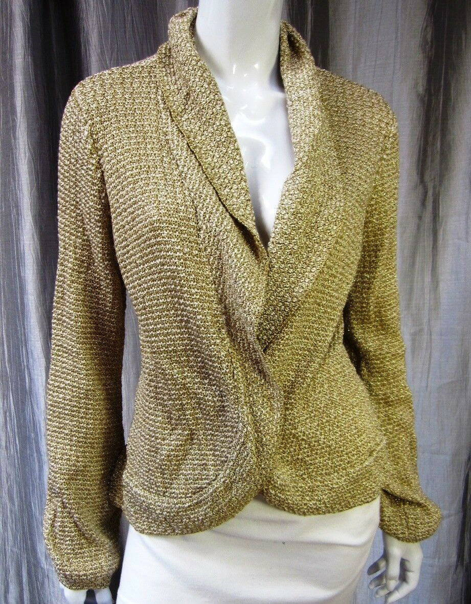 INC International Concepts Drop Down Cardigan Sweater Size L Large Yellow