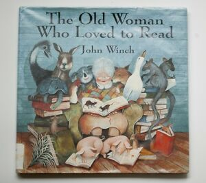 The-Old-Woman-Who-Loved-to-Read-by-John-Winch-Hardcover-Library-Jacket