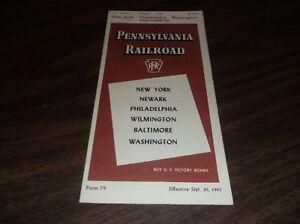 SEPTEMBER-1945-PRR-PENNSYLVANIA-RAILROAD-FORM-79-NEW-YORK-TO-WASHINGTON