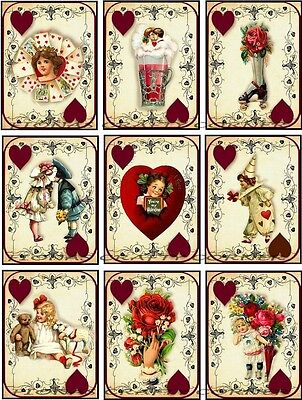 9 VALENTINE'S DAY CHILDREN HEARTS HANG / GIFT TAGS FOR SCRAPBOOK PAGES (20)