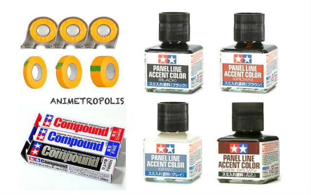 TAMIYA Putty Panel Line Cement Cement Glue Paint Thinner Tape Tool Model Kit タミヤ