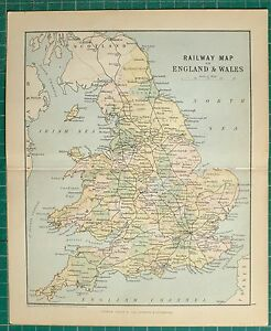 County Map Of England.Details About 1882 Small Antique County Map England Wales Railways Birmingham London York