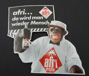 Promotional Stickers Afri Cola Chimpanzee As Is Man Again Mensch Softdrink