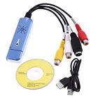 Portable USB 2.0 Video & Audio Capture Card Adapter Composite RCA New UL