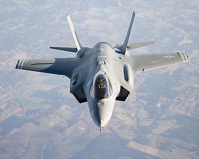 """24/"""" x 16/"""" Poster F35 Military Fighter Jet Lightning Bomber"""