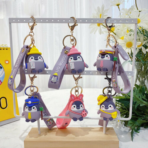 Cute Animals Penguin Keychain Woman Gift Bag Pendant Key Chain  Accessories