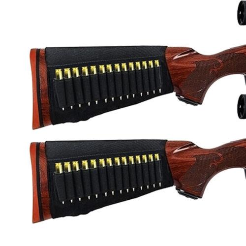 2X Hunting 14 shell Rifle Gun Buttstock Bullet Cartridge Ammo Holder For 5.56mm