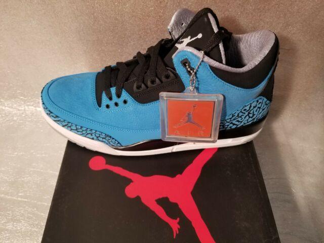 new arrivals 5846f 0ebeb Nike Air Jordan Retro 3 III Powder Blue Size 13 White Black Cement