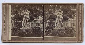 Napoli Ercole E Anteo Italia Stereo Albumina Ca 1865