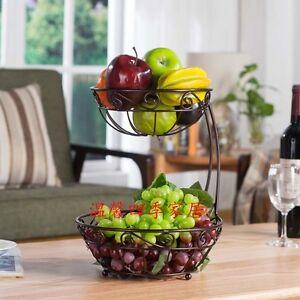 Kitchen Fruit Rack Basket Holder Vegetable Stand Display Organizer Wire Home