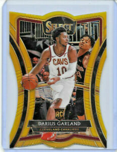 2019-20 PANINI SELECT BASKETBALL DARIUS GARLAND DIE CUT RC GOLD REFRACTOR 1/10