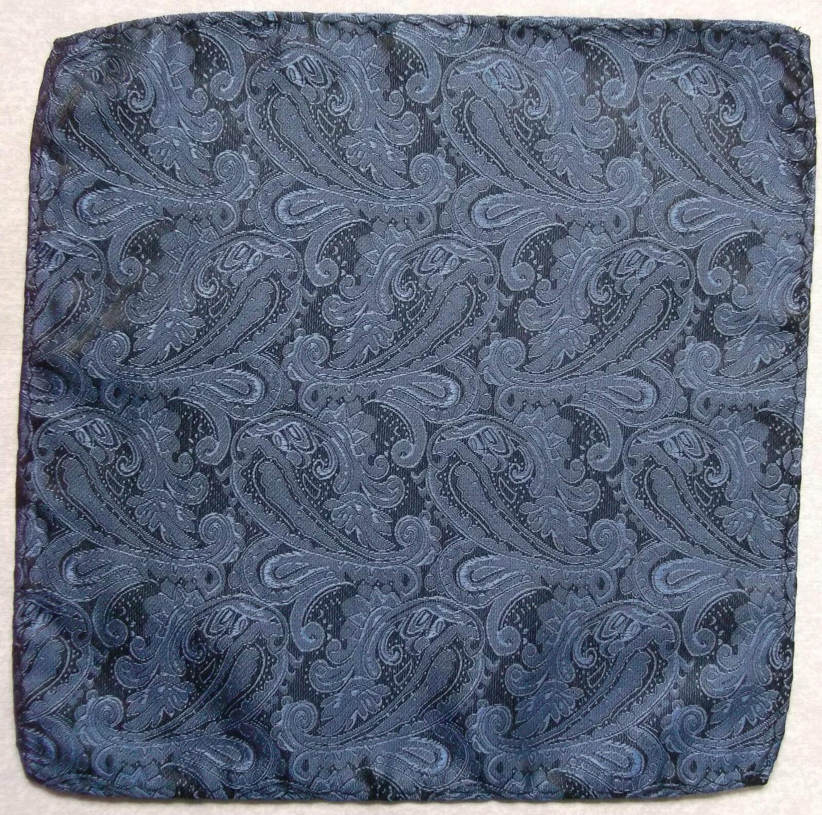 Handkerchief Pocket Square Handkerchief Mens Handkerchief Navy Blue Paisley