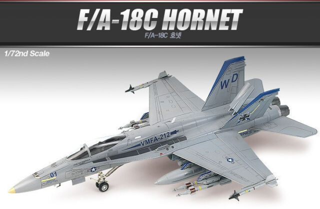Academy 1/72 F/A-18C HORNET US NAVY/MC Ver. w/ Cartograf Decal 12411 NIB