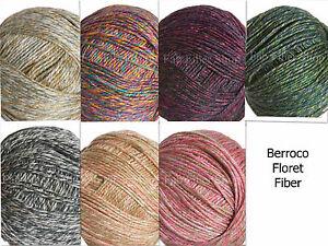 Berroco-Floret-Ultra-soft-Cotton-Blend-Yarn-Color-Choice-Loom-Knit-Crochet-FS