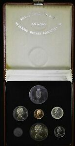 Canada-PL-Set-1967-KM-PL18a-6-Coin-Prooflike-Silver-4-Medal-Official-Case-COA