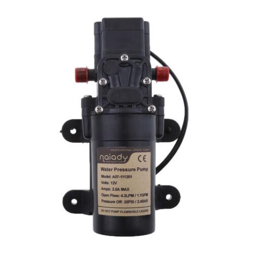 Marine//RV Pressure Diaphragm Pump 1.1GPM 35PSI Automative Water Pump DC 12V