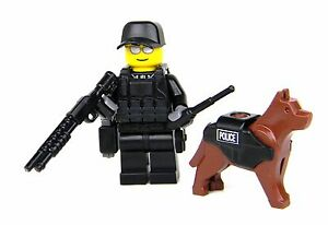 K9-with-Police-Officer-Swat-Tactical-Minifigure-SKU34-made-w-real-LEGO-minifig