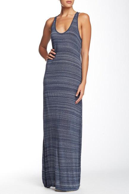 Nwot Vince Space Dye Maxi Dress bluee striped sz Large  retail