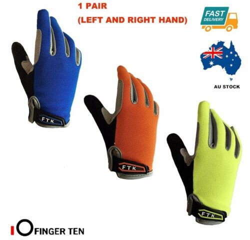 Cycling Gloves Kids Boys Girls Bike Bicycle Full Finger Fitness Ridding Junior