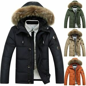 Mens-Warm-Duck-Down-Jacket-Fur-Collar-Thick-Winter-Hooded-Coat-Outwear-Parka