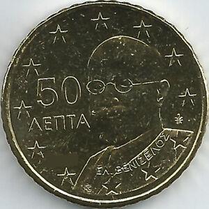 Griechenland 50 Cent Kursmünze 2002 F 2018 Unzirkuliert