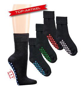 Anti-Rutsch Socken mi Baumwolle schwarz im 2er Pack 39//42