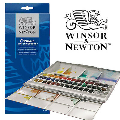 Winsor and Newton Cotman 45 Half Pan Watercolour Set NO PACKAGING
