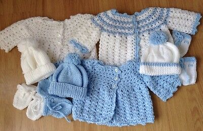 HAND Knitted Cardigan Baby Set