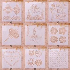 Lot-Patterns-Drawing-Airbrush-Painting-Stencil-Kids-Gift-Chic-Craft-Album-n