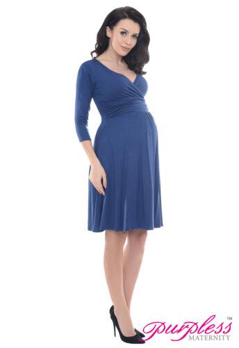 Purpless 3//4 Sleeve Pregnancy Maternity Casual Vneck Women/'s Dress Top D4400