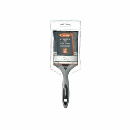 1pc//5pcs Lynwood No Bristle Loss Paint Brush Soft Grip Poignée 12mm-75mm