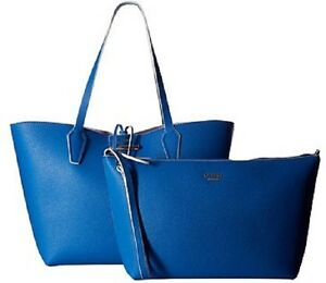 86143fcaaa2 New Guess Bobbi Inside-Out capri multi blue Set VG642223 tote ...