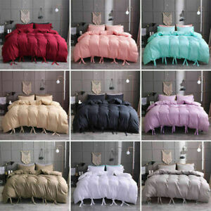 Solid-Color-Bedding-Set-Comforter-Duvet-Cover-Pillowcase-Sets-Twin-Queen-King