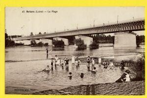 cpa-FRANCE-45-cachet-DAGUIN-BRIARE-Loiret-PONT-CANAL-sa-PLAGE-sa-PECHE-Anime
