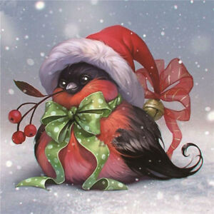 DIY-5D-Diamond-Embroidery-Painting-Christmas-Bird-Cross-Stitch-Home-Decor-CraftS