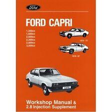 Ford Capri Official Workshop Manual 1974-1987 book paper