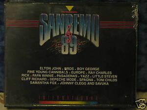 SANREMO-89-2-MUSICASSETTE-ORIGINALI-SIGILLATE