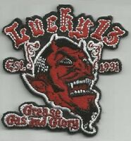 LUCKY 13 DEVIL GREASE GAS and GLORY ROCKABILLY HOT ROD PUNK BIKER PATCH